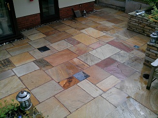 Perfect Photo Of Clean Patio Stones After They Have Been Refinished