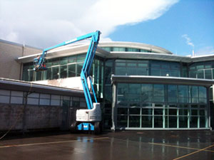 Photo of commercial window cleaning at Madeley Academy